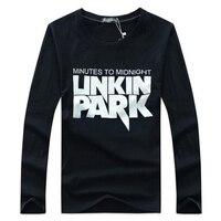 LINKEN 공원 유명한 락 밴드 문자 인쇄 2017 브랜드 코튼 패션 남성 티셔츠 바위 긴 소매 캐주얼 T 셔츠 남자