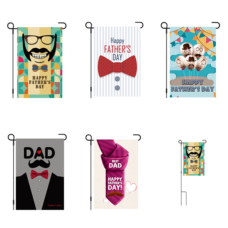 2018 Happy Father's Day Garden Flag 30*45 Home Indoor And Outdoor Banners For Father's Day Gift