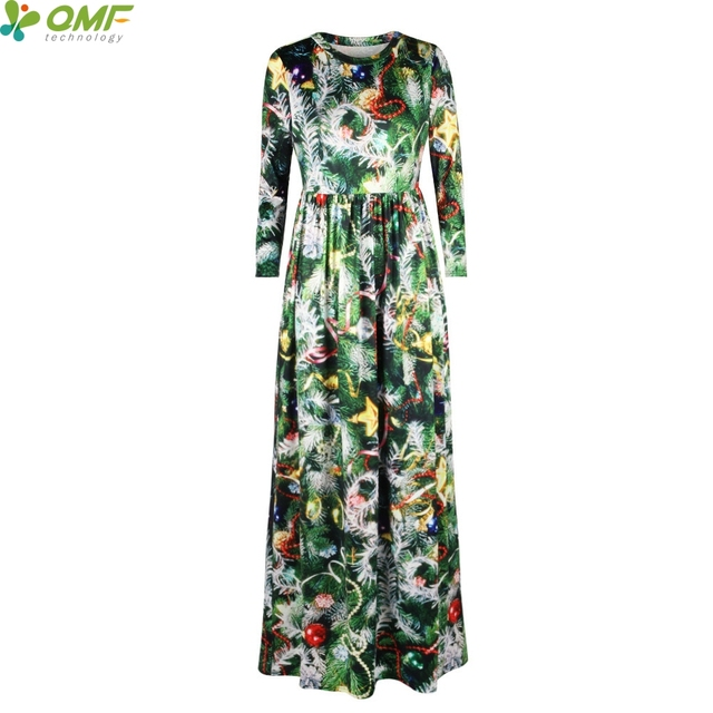 Floral Dresses Vintage In 99green Length Party Floor Women Vestidos Print Christmas Tennis Dress Holiday Maxi Tree Long Us24 vwmnN08