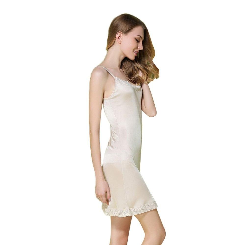 Hoffen Womens 100/% Silk Full Slips Dress Lace Petticoat Underdress