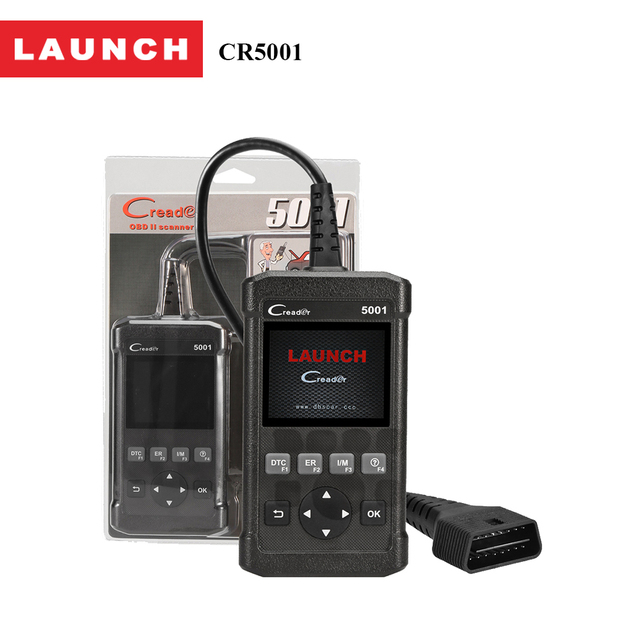 Launch CReader 5001 Diagnostic Tool Full Functions OBD2 Scanner with O2 Sensor Test and On-board Monitor Component diagnosis
