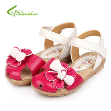 Girls Princess Sandals Summer Sunflowers Thin Shoes Baby Children Girl Flower Leather Shoes Free Drop Ship Wholesale New Fashion