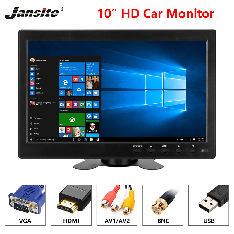 Jansite 10 Car Monitor IPS camera Car Rear View monitor Parking Rearview System HDMI with Backup
