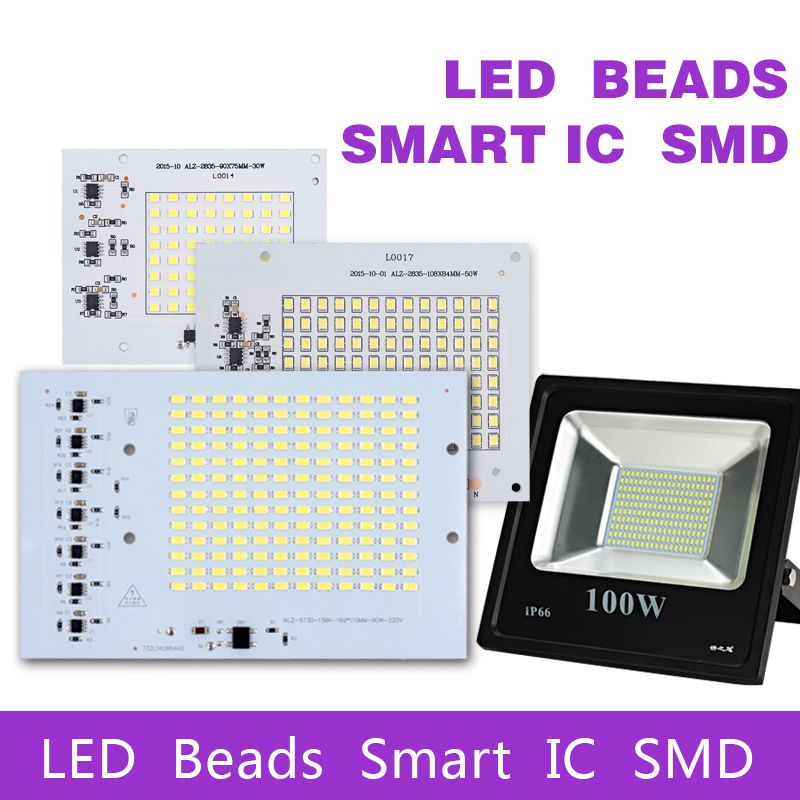 SMD LED Lamps Chip Smart IC AC 220-240V 10W 20W 30W 50W 100W DIY For Outdoor FloodLight Outdoor Garden Cold White Warm White ...