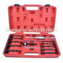 16PCS UNIVERSAL CAR BLIND HOLE PILOT BEARING PULLER INTERNAL EXTRACTOR INSTALLATION REMOVAL TOOL KIT W/ SLIDE HAMMER TOOL AT2030