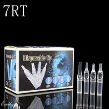 100pcs Disposable 7RT Tattoo Tips 7 Round Size Clear Plastic Sterile Assorted Tatoo Tip For Body Art