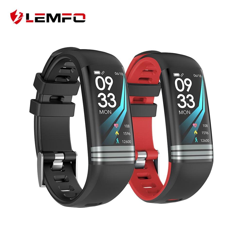 LEMFO Smart Fitness Bracelet Color Screen Waterproof Heart Rate Blood Pressure Oxygen Sport Watch Band For Men Women