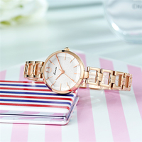 KIMIO Relojes Hombre 2017 Luxury Brand Fashion Rose Gold Ladies Bracelet Watch Women Clock Quartz Wristwatches