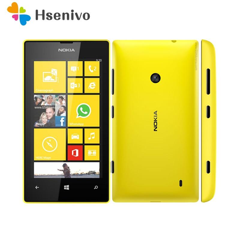 520 Original Nokia Lumia 520 Unlocked Mobile Phone Dual Core 3G WIFI GPS 4.0