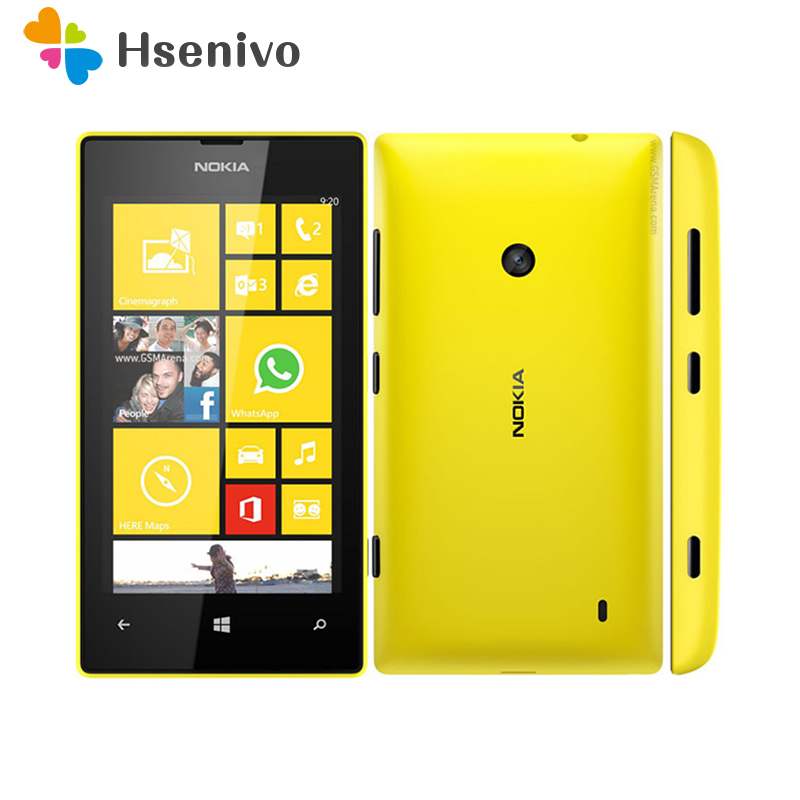 520 Original <font><b>Nokia</b></font> Lumia 520 unlocked mobile <font><b>phone</b></font> Dual Core 3G WIFI GPS 4.0
