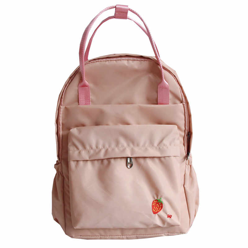ce1988d890ea ... Women Girls Japanese Korean Style Bags Kawaii Strawberry School Square Backpack  College Vintage Travel Laptop For ...