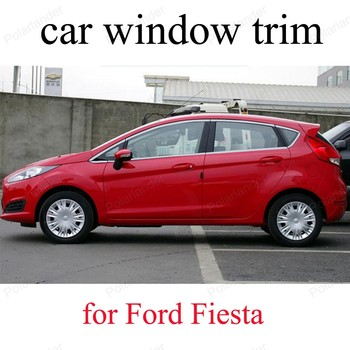 Stainless Steel Styling Car Window Sill Decorative Trims For F-ord Fiesta Exterior Accessories