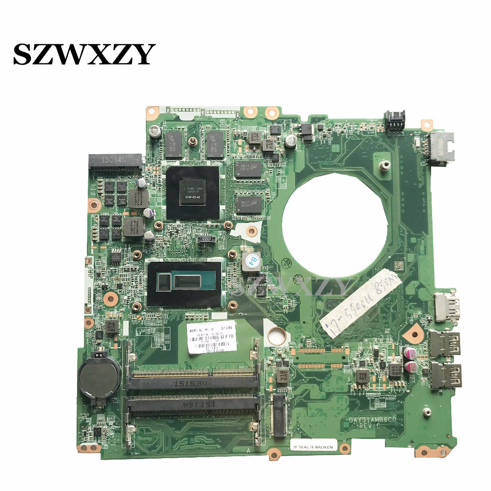 Reboto Classy Laptop Motherboard For HP 17 K 17T K Series DAY31AMB6C0 With Processor i7 5500U