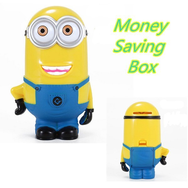 PEFRCT GIFT 4 CHILDRENS Despicable Me Minions Piggy Coin Bank Money Gift Box