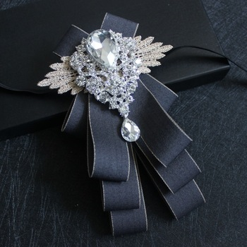 Original Design Fashion Trend Boutique Gray Striped British Collar Flower Groomsmen Groom Dress Banquet Wedding Suit Bow Tie yellow bow tie front strapless zip back design midi dress