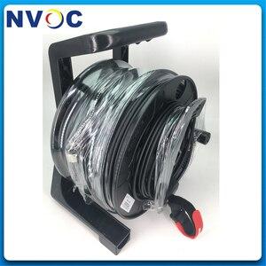 Image 3 - Câble à fibres optiques tactique rétractable militaire extérieur de télécom portatif bobine de fil de câble de poignée vide/tambour denroulement/rouleau/plateau