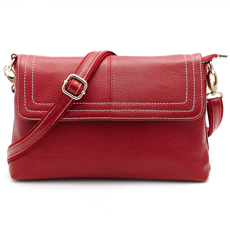 Fashion Women Brand Genuine Leather Shoulder Bag Ladies Messenger Bags Zipper Phone Pouch For Female Girl Designer Crossbody Bag zmqn women shoulder bag candy colors fashion handbags brand small leather crossbody bags for women messenger bag girl zipper 507