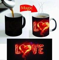 愛マグコーヒーカップ茶マグ感熱熱反応性マジックカップセラミック旅行マグホームデカール