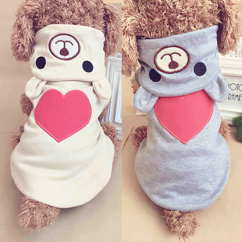 Pet Dog Clothes For Small Dog Cotton Clothing Coat Hoodies For Chihuahua Pets Dogs Winter Clothes Pajamas Love Bear Costume 40a1