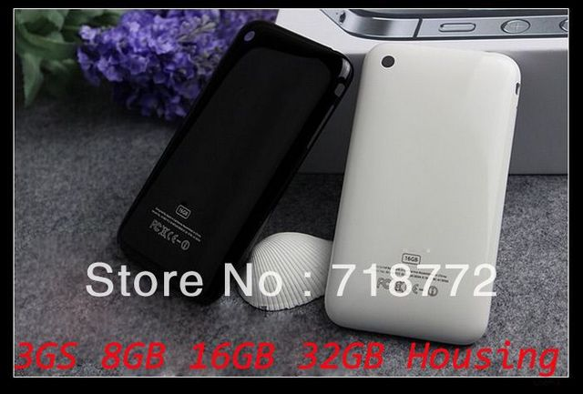 White Black 3GS Housing Back Battery Cover Case with Sim Tray for 3GS 8GB 16GB 32GB free shipping by DHL