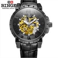 Suíça binge relógios masculinos marca de luxo mão mecânica vento aço inoxidável completo relógios de pulso resistente à água B 5032 17 water resistant water men water resistant watch men -