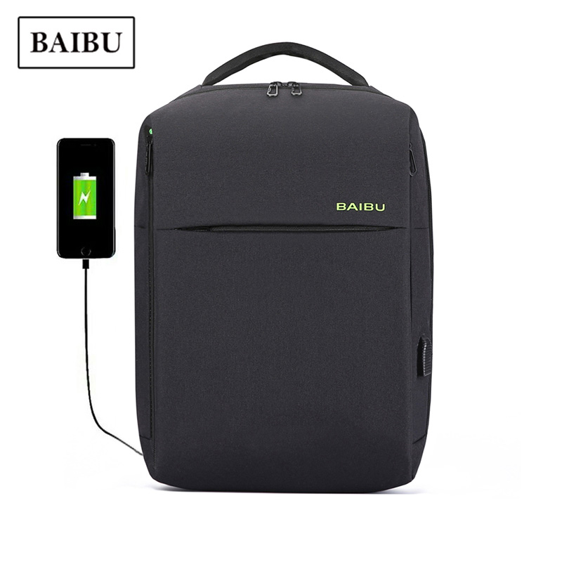 Backpack Men Trendy Fashion Anti-theft Business Computer Bag Pack USB Charge Technology Cool Travel Bag Large Capacity Schoolbag
