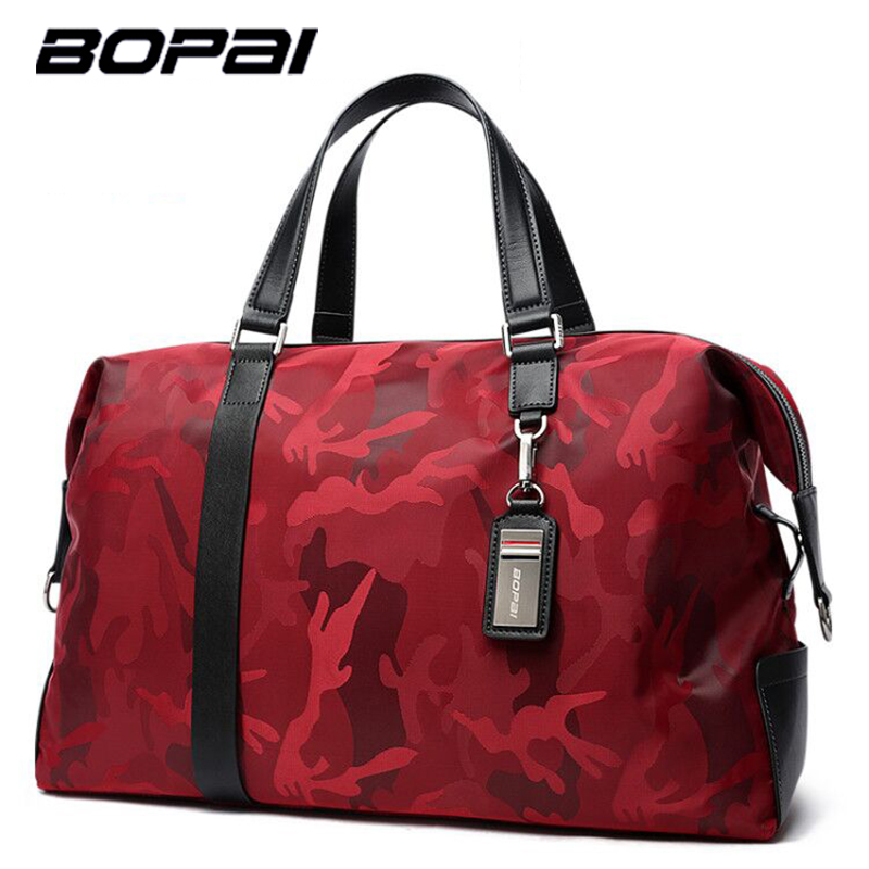 BOPAI Brand Large Capacity Men Travel Bags Weekend Travel Luggage Bag Duffle Bag Crossbody Travel Shoulder Bag Drop Shopping