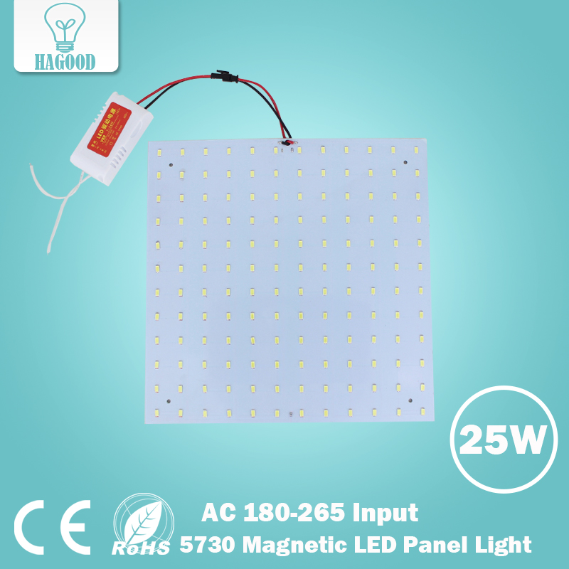 25W 5730 Square Surface Mounted Led Ceiling Lights Panel Lights Led Magnetic Aluminum Panel Board Lights usb3 0 round type panel mounting usb connecter silver surface