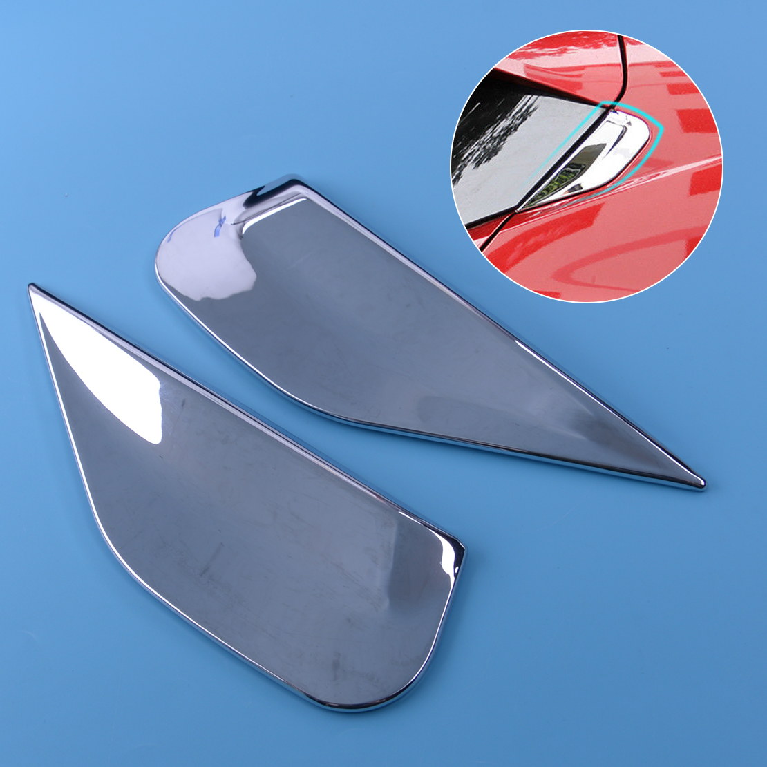 For Buick Encore Opel Vauxhall Mokka Chrome Rear Window Spoiler Cover Trim Bevel