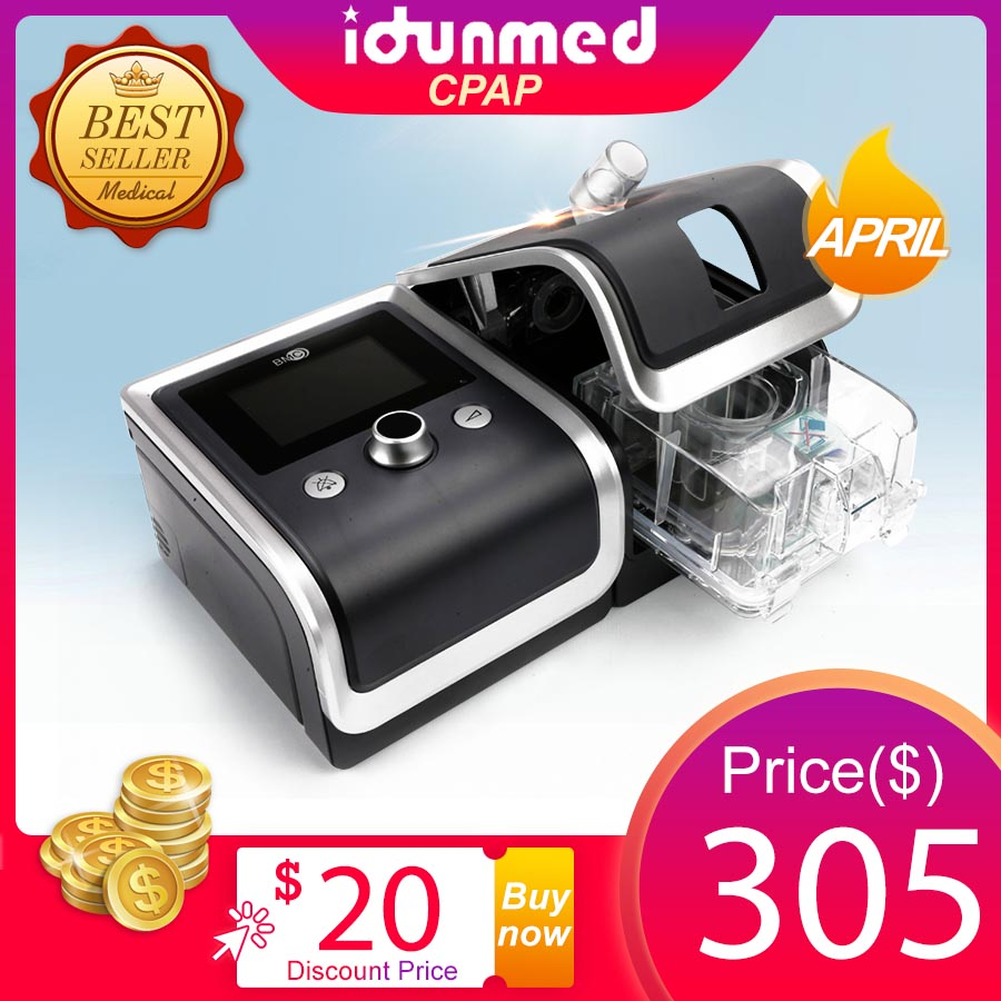 Máquina de CPAP Com Máscara de CPAP BMC Filtro Da Mangueira de Cartão SD Saco de Viagem Aparelho de Respiração Para A Saúde Apnéia Do Sono Anti Ronco tratamento