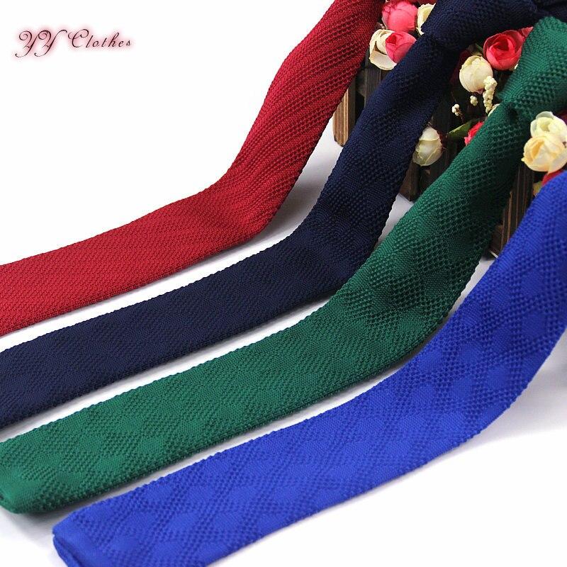 Men Knitted Knit Leisure Check Ties Fashion Skinny Narrow Slim Neck Ties For Men Skinny Knitting Designer Cravat Neckwear
