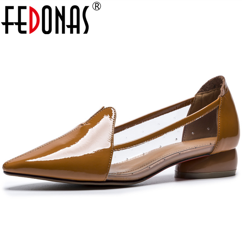 FEDONAS Women Pointed Toe Pumps New Brand Design Wedding Party Shoes Woman Classic Comfort Office Pumps New Office Shoes стоимость