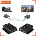 60 m lkv372a hd 1080 p hdmi extender transmisor tx/rx con ir más cat6 cable ethernet rj45 apoyo hdmi dvd 3d para proyector de la tv