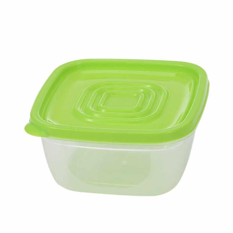 5 шт. приготовление еды контейнер для завтрака коробки для хранения еды контейнеры пластиковая коробка для бенто Радуга квадрат Crisper с крышками