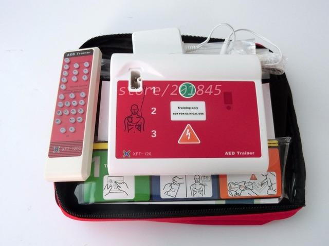 2 Unids/pack Entrenador AED Desfibrilador Externo Automático Portátil En Inglés y Español