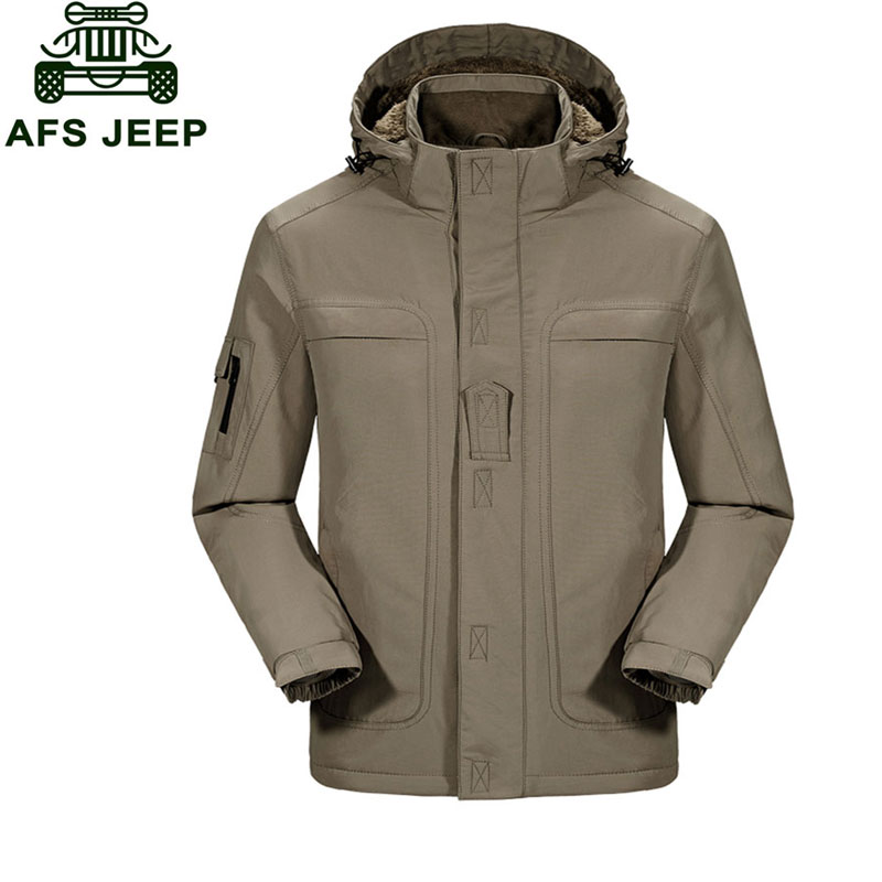 M~3XL 2017 Autumn Winter Down & Parkas Cargo Fleece Thicken Jackets Army Green Coats Men Casual Cotton Hooded New Arrival Jacket брюки funky staff брюки queen