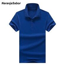 NaranjaSabor 2017 Summer New Men's Polos Men Brand Clothing Polo Shirt Cotton Short Sleeve Men Polo shirts Casual Clothes S~XXXL