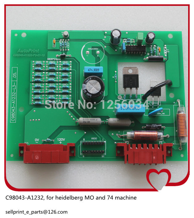1 piece heidelberg printing board for heidelberg MO machine heidelberg SM74 board C98043 A1232 1 piece motor g2 144 1141 for sm74 xl75 heidelberg machine g2 144 1141 a