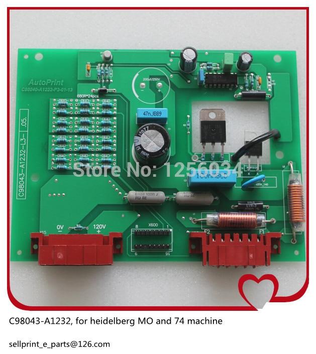 все цены на 1 piece heidelberg printing board for heidelberg MO machine heidelberg SM74 board C98043 A1232 онлайн