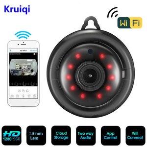 Image 1 - Kruiqi 960 720p の 720 ホームセキュリティ IP カメラ双方向オーディオワイヤレスミニカメラナイトビジョン Cctv の Wifi カメラベビーモニター V380 プロ