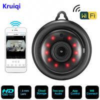 Kruiqi-cámara IP de seguridad para el hogar 960P 720P, Audio bidireccional, inalámbrica, Mini cámara de visión nocturna, CCTV, WiFi, Monitor para bebés V380 pro