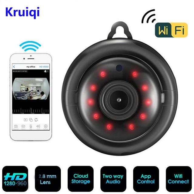 Kruiqi 960P 720P Home Security IP Camera Two Way Audio Wireless Mini Camera Night Vision CCTV WiFi Camera Baby Monitor V380 pro