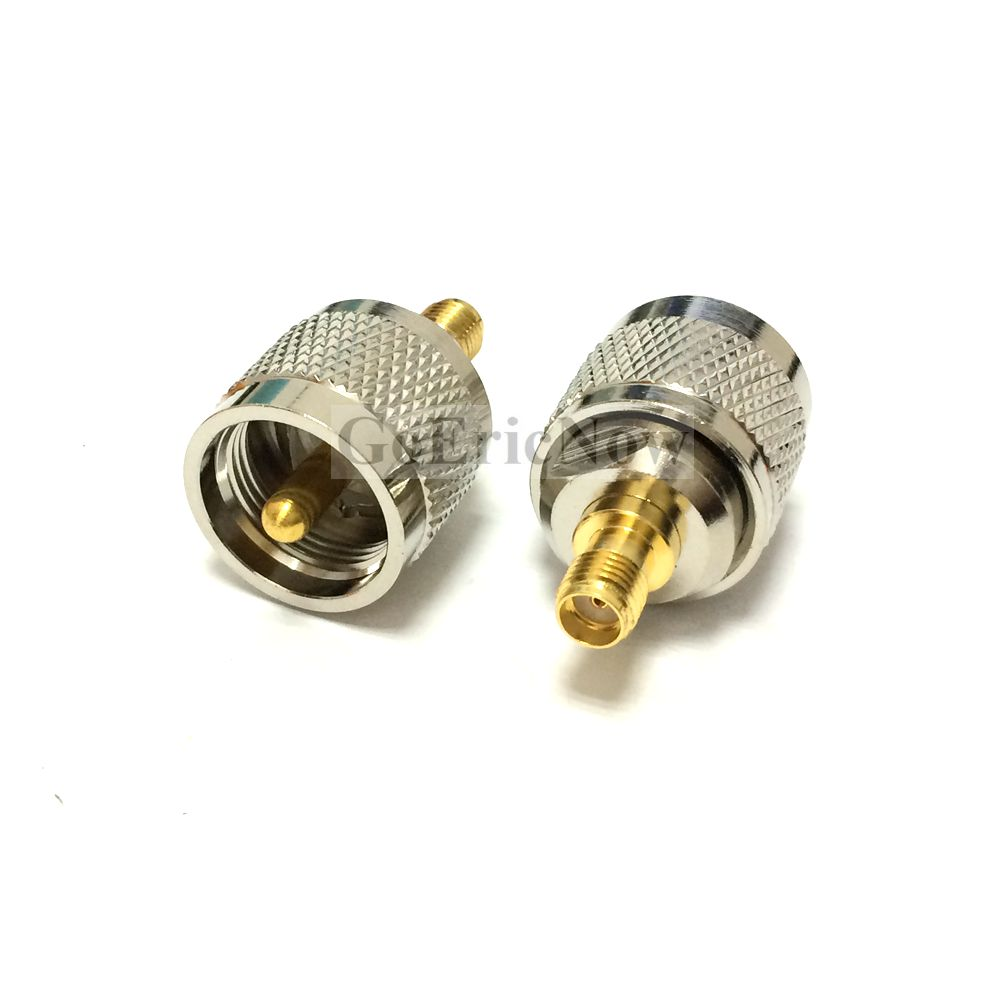 40 pcs PL259 UHF plug Male to SMA Female jack RF connector straight adapter