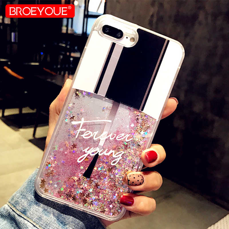 Liquid Glitter Case For iPhone 11 Pro XS Max XR 8 7 Plus Case For iPhone SE 5 5S 7 8 6 6s Plus Case Cat Perfume Quicksand Cover