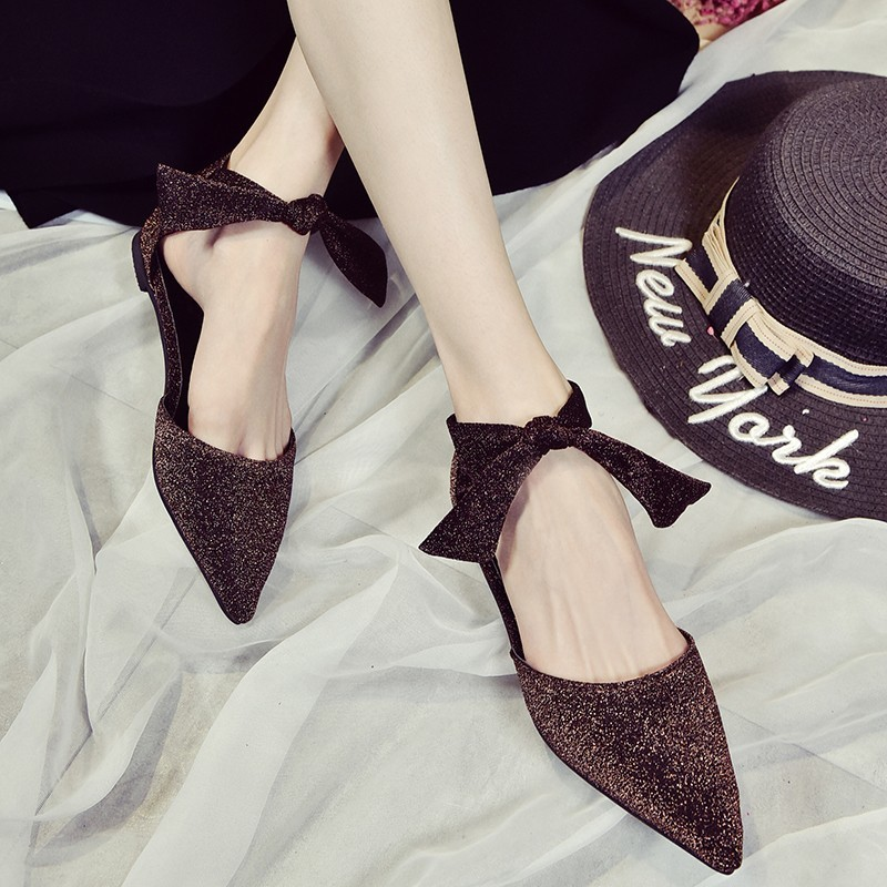 Mazefeng 2018 New Fashion Summer Women Shoes Mature Style Women Casual Pumps Pointed Toe Ladies Pumps Hoof Heels Lace-up Bling summer bling thin heels pumps pointed toe fashion sexy high heels boots 2016 new big size 41 42 43 pumps 20161217