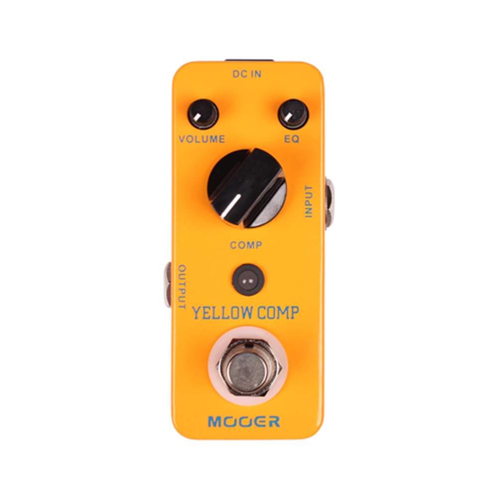 Mooer Yellow Comp MCS2 Guitar Effect Pedal True bypass Micro Mini Yellow Comp Optical Compressor Effect Pedal MCS2 mooer yellow comp optical compressing pedal true bypass full metal shell guitar effect pedal