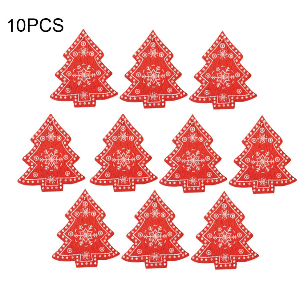 Fengrise Diy Felt Christmas Tree Kids Artificial Tree Ornaments Christmas Stand Decorations Gifts New Year Xmas Decoration 10pcs Lot Wooden Christmas Ornaments Pendant Hanging Gifts