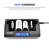 Soshine CD1 Universal Battery Charger Smart Intelligent LCD Display NiCd NiMh AAA/AA/C/D/9V Rechargeable LCD Battery Charger
