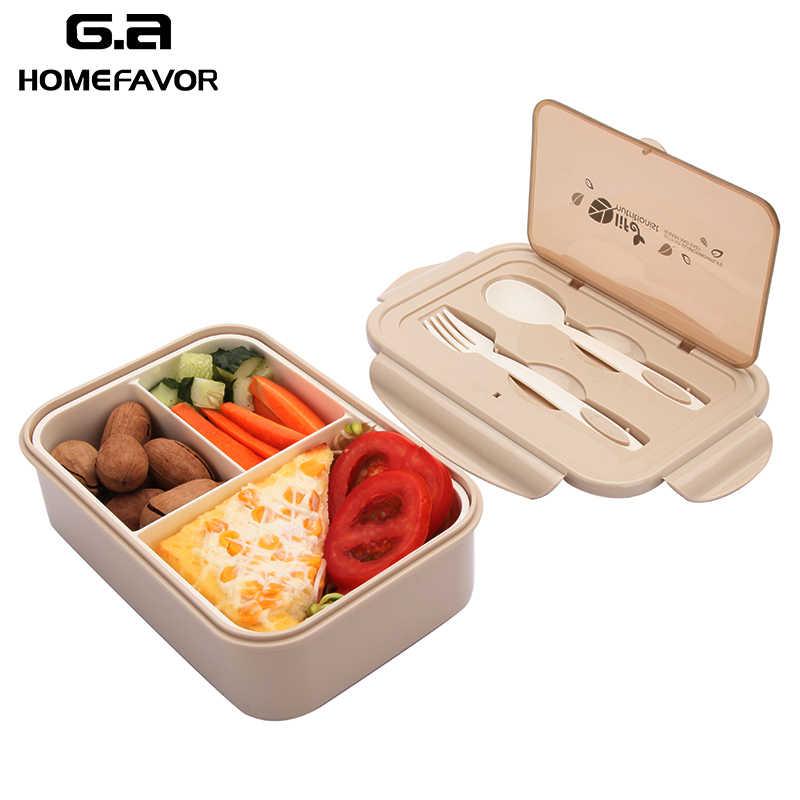 Pp Lunchbox Voor Kids 2 Of 1 Pcs Container Magnetron Lekvrij Voedsel Fruit Storage Bento Box Met Lepel En vork Nieuwe
