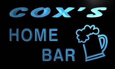 x1064-tm Coxs Home Bar Custom Personalized Name Neon Sign Wholesale Dropshipping On/Off Switch 7 Colors DHL